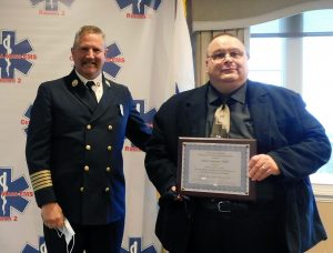 Southbridge Fire Chief Paul Normandin and Peter Laitinen MWCC Paramedic Program Director