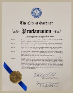 City of Gardner - Nursing Proclamation