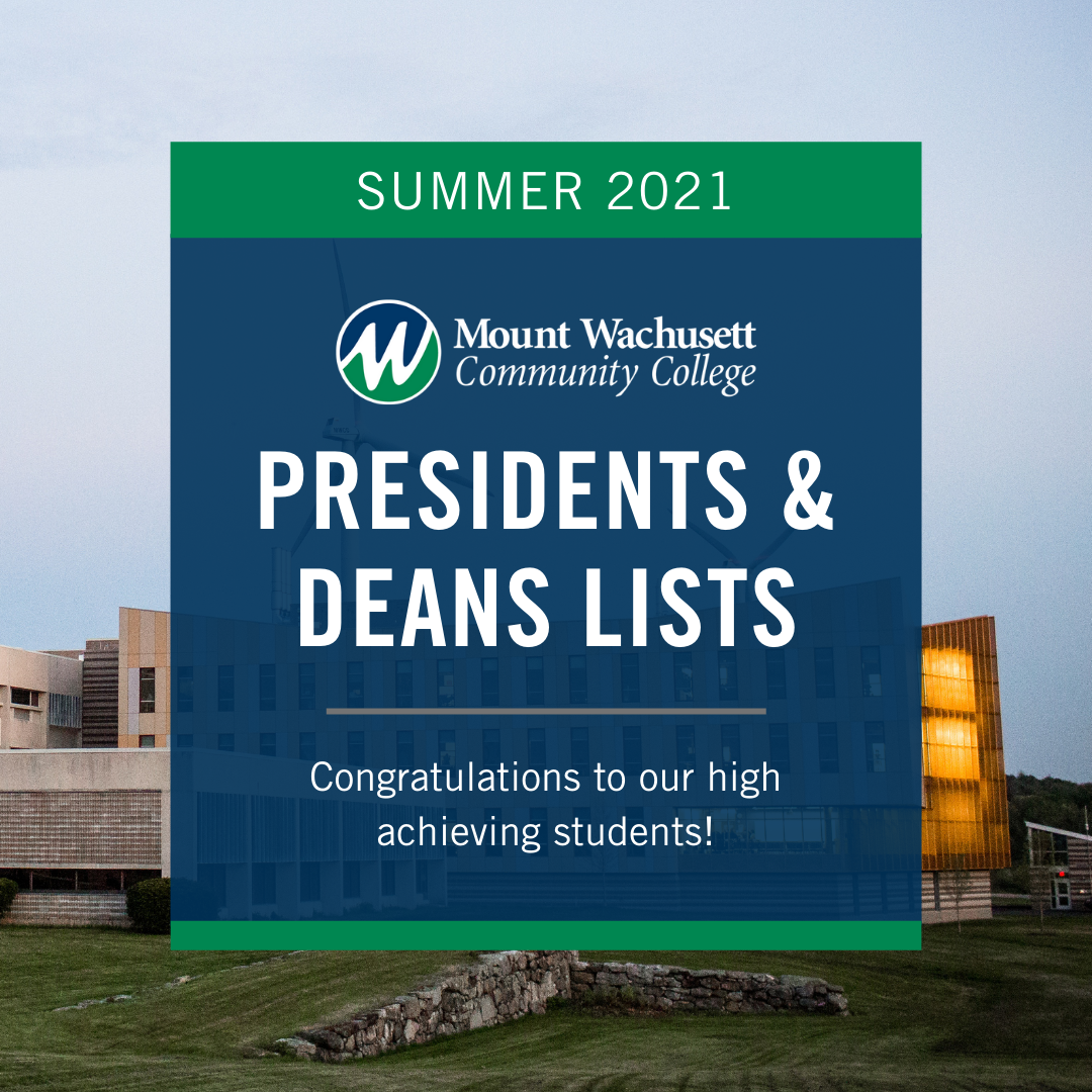 President and Deans Lists Summer 2021