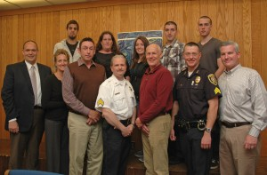Group of criminal justice students and their mentors