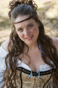 Kellianna dressed in neo-Celtic clothes