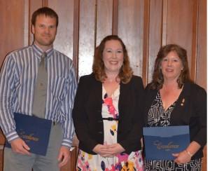 Award recipients Bryan Sanderson and Elizabeth Reiser with Fagan Forhan