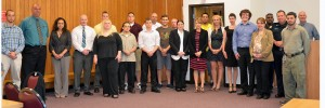 Criminal Justice students and their internship mentors.