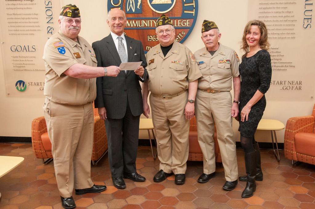 VFW scholarship donation to MWCC Foundation