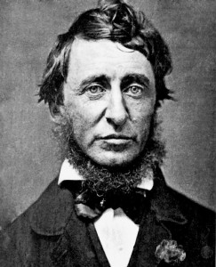 Black and white headshot of Henry David Thoreau