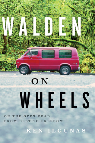 Book cover of Walden on Wheels [red van in a parking lot in front of the woods]