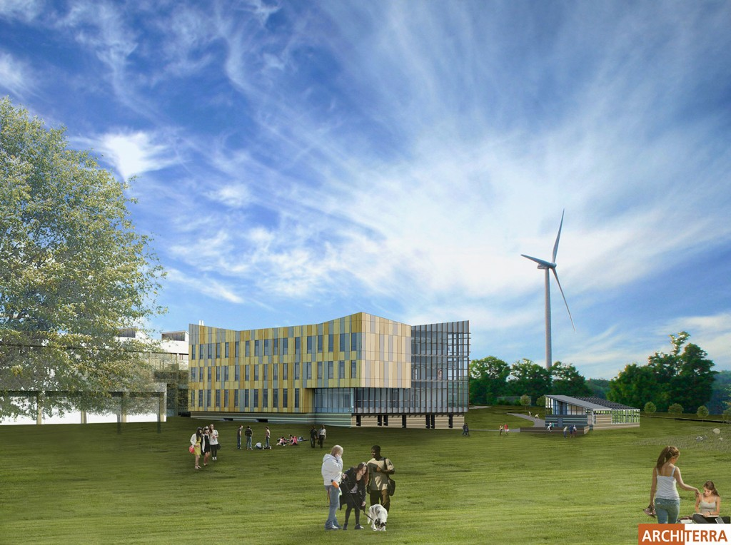 3D Rendering of the new STEM building