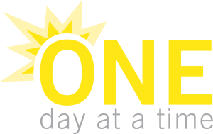 """One day at a time"" graphic"