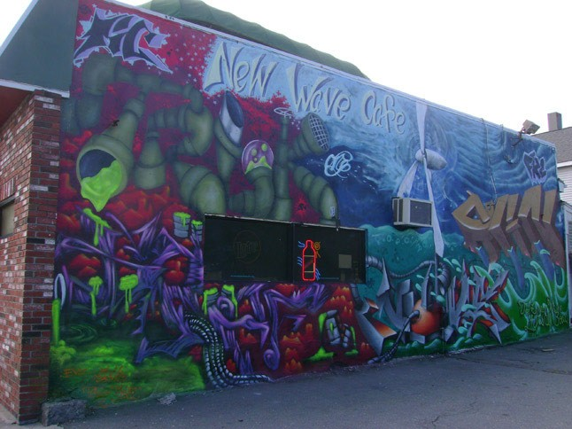 New Wave Cafe mural