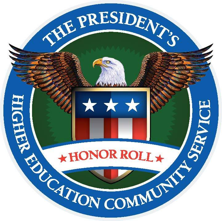 The President's Higher Education Community Service Honor Roll Logo (Eagle with a shield)