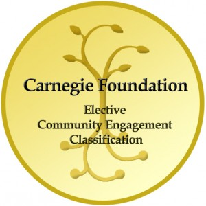 Carnegie Foundation - Elective Community Engagement Classification gold logo/seal