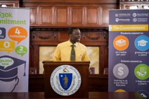 MWCC student Louis Ayisi at $30K Commitment Statehouse