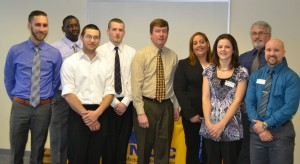 MWCC Career Development Coaches with a group of graduates from the Advanced Manufacturing Career Program