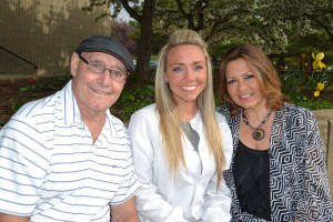 Dental Assisting graduate Stephanie Ollari and her parents, Tim and Sandy, prior to the pinning ceremony