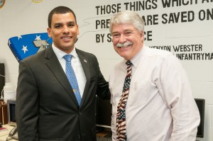 Bob Mayer and Secretary Urena