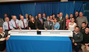 MWCC Beam signing ceremony group photo