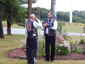 Patriot Riders flag ceremony