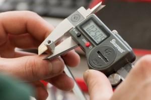 micrometer close up