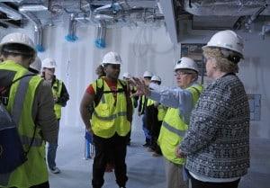 FHS hardhat tour of MWCC STEM building 1