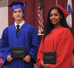 2016 Gateway & Pathways valedictorians Christian and Bella 2