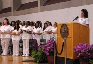 Breana Keegan leads nursing pledge
