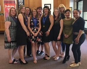 Service Learning celebration nurses group photo