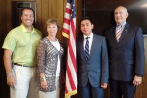 Gardner Mayor Mark Hawke, Board of Trustees Chair Tina Sbrega, Student Trustee Jasson Alvarado Gomez, MWCC President Daniel M. Asquino