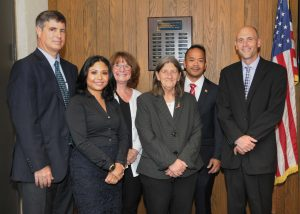 Group of the newest trustees with Chair Antonioni and President Vander Hooven