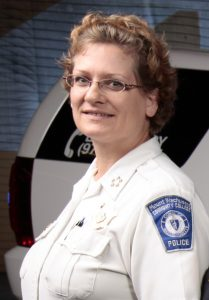 Chief of Police and Pub­lic Safety Karen Kolimaga
